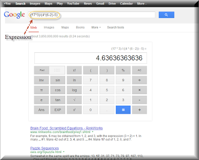 Use google as calculator